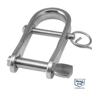 Flachschäkel Schlüsselschäkel mit Steg